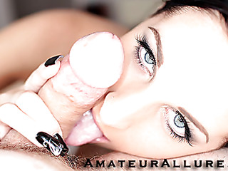 Racquel is a beautiful 20 year old darksome brown, with all natural melons and a miniature bald cookie.  This Chick is a total weenie sucking freak, that can't appear to be to receive enough cum in her mouth. When u watch what this hottie does to my dong u will understand. That Chick rode my 10-Pounder like a pro and then I flipped her over and stretched her cookie good. We had a banging precious time and that hottie drank a sticky load.