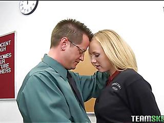 Schoolgirl receives a stormy hardcore fuck from her teacher