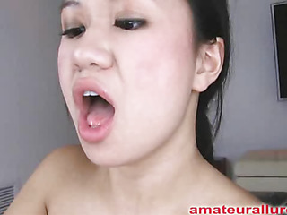 Carmina is an asian bitch out of gag reflex. This Honey takes a knob all the way down her face aperture and holds it for a during the time that. Then Carmina gets her hairless cum-hole fucked then the shlong goes right back into her mouth. This Honey jerks off Thoma