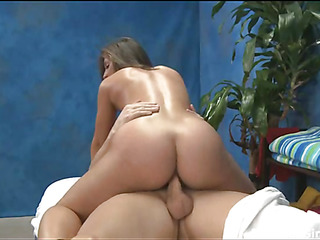 This hawt Eighteen year old hot angel gets drilled hard doggy position by her massage therapist