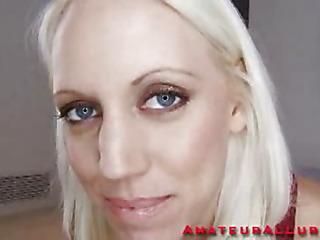 Nice-looking golden-haired Kacey is back and willing to shoot her 1st HiDef Spermcam update. That Honey sucks my 10-Pounder with precision and after this honey gets it all sloppy, wet and strong that honey lowers her tight slit onto my penis. I fuck that sweet hairless obscene cleft for a while until its time to shoot my load. I dump a massive load of thick creamy cum in her throat and that honey gulps it down.