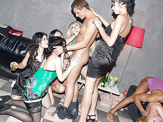 Those lecherous college honeys haven't had sex for a whilst, so they decided to receive jointly for a steamy college sex party with gracious guys. From the very start it's obvious that the party's plan to be a real blast! The lewd students start with...