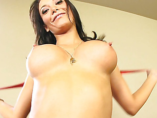 Malezia has a adorable heart shaped wazoo that just looks great when u're fucking her from behind.  Those firm wazoo cheeks are heaven to look at as that hottie lowers her muff onto a awaiting dong.  Those slutty Latin wench takes a large load of cum on her milk sacks and tight tummy.