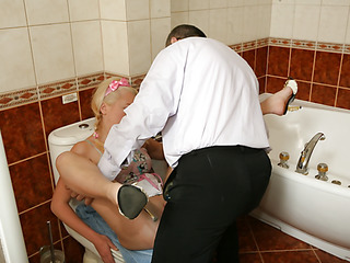Lascivious schoolgirl ready to take a couple of sex classes with her hard teacher.
