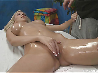 Marvelous 18 year old receives fucked hard by her massage therapist