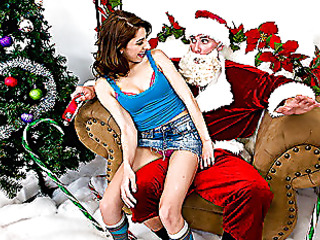 `Santa Sins is working at the mall when along comes a nasty little wench by the name of Lexi Bloom. When this hottie tells Santa that all that hottie wishes for christmas is something that starts with `C` and rhymes with `Rock,` well needless to say, Santa's north pole stands at full attention. When the mall closes, Santa and Lexi meet up for a little rendez-vous on Santa's sleigh where Lexi's about to get a White Christmas... all over her face!`