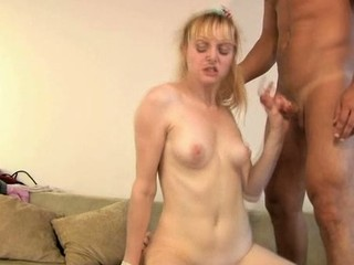 Hot darling is giving guy a moist oral-stimulation in advance of riding it