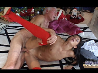 This old guy finds out on the Christmas morning a cute darksome brown doll beneath his tree. But this doll is a real juvenile gal sent to make him happy with fine hardcore: oldyoung fuck, fellatio, doggy style and more