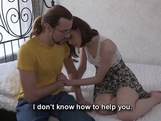 This nerdy dude can't satisfy his girlfriend one as well as the other financially and sexually. However, there is one way to solve those problems at one time if that dude lets her rich Internet ally fuck her for money. That Chap knows his hottie craves a valuable fuck and a fresh dress and even though watching her engulf and ride that handsome lad's 10-Pounder makes him desperately jealous this chab stays through the whole act to be there when this honey gets the not quite all astonishing large O ever. Screwed up love as it is!