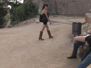 Adulteress blackmailed and dominated in slavery with anal sex.