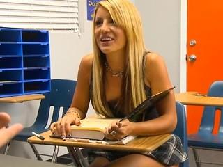Perverted teacher examines hotty