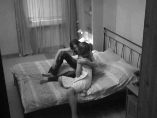 Webcam lens captures a hot sex in the bedroom with a nasty lady
