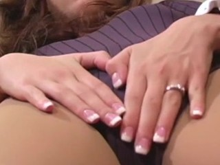 Steaming angel shows feet and love tunnel in different pantyhoses