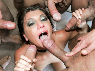 Cassandra is face drilled and glazed by sexy cum.