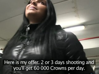 I couldn't believe my luck. I met this sexy darksome brown in a car park and I tried it on with my fake advertising agency routine. That Babe fall for it! She is stunning. I got her back to a hotel room and fucked her previous to she changed her mind!