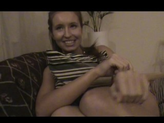 Nasty teen lady accedes to endure sex by the table with joy