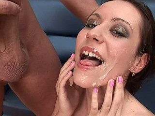 Super beautiful angels getting a lot of cum on their faces !