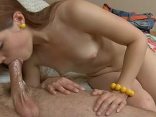 Smoking-sexy teen enjoys a suck and a hot vagina pounding