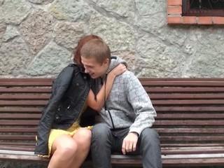 Seductive lewd teen endures bareback act with her fuckmate