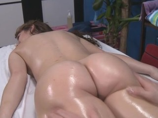 Hawt and sexy 18 year old gets fucked doggystyle by her massage therapist
