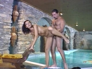 Teen honey is masturbating previous to getting group-fucked by hot guy
