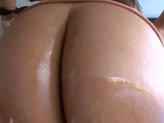 Cute playgirl stands in different poses getting booty team-fucked
