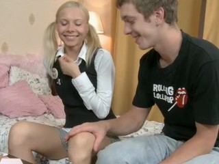 Enjoyable legal age teenager tastes an experienced aged penis