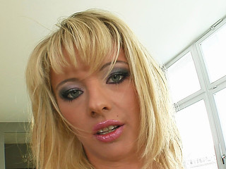 Deepthroating and hard sex are exactly the things that this little golden-haired slut needed. That babe gets absolutely destoryed before swallowing a big load of goo.