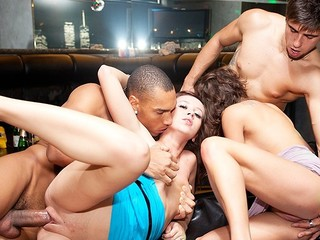 Enjoy this mind-blowing party sex scene with filthy obscene-minded college hotties who always wish greater amount