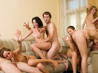 A group of youthful student angels and their best male friends decided to walk but very charming pretty soon appeared to be fucking.