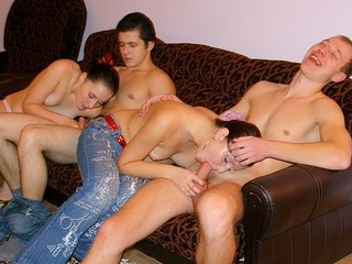 These filthy and messy-minded juvenile student gals and boys know the most admirable way to relax after classes!