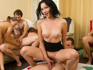 Excited students adore hawt celebrations. They undress and plunge into sexual group fuckfest in sexy student sex party movie.