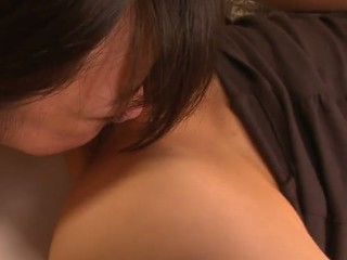School beauty Aoba Itou gets into a nasty trio with her boss and his wife and enjoys in pleasing 'em one as well as the other- her with a worthy cum-hole licking and fingering session and him with a nasty penis engulfing on her knees in this trio session in the bedroom